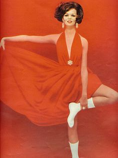 Red and white    From Seventeen, August 1962. Ad for Adler socks.