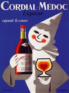 1.5 x 40 x 60-Inch iCanvasART 3 Piece Cordial-Medoc Vintage Ad Poster Canvas Print by Unknown Artist