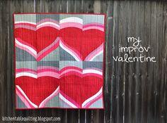 Moda Bake Shop: My Valentine Improv Quilt parede