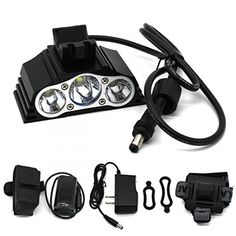 1 Pcs Exceptional Popular Style 4 Modes 7500LM LED Bike Lights Water Resistant Rechargeable Bicycle Headlight Color Black with Battery Charger