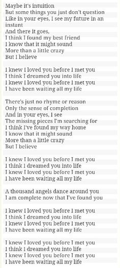 I Knew I Loved You Before I Met You - Savage Garden