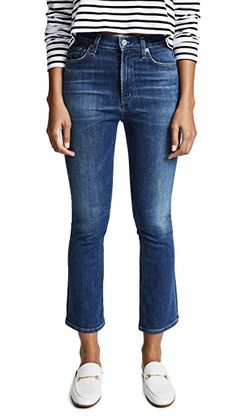 2958a1cb60a41 Citizens of Humanity Demy Cropped Flare Jeans New Jeans Style