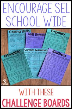 Social Emotional Learning Activities – Class Challenge Boards — Counselor Chelsey Social Emotional Learning Activities – Class Challenge Boards — Counselor Chelsey,back to work Related posts:Cheat Sheet for School Counseling Lessons - Entire Elementary. Social Emotional Activities, Counseling Activities, Learning Activities, Learning Skills, Coping Skills Activities, Anti Bullying Activities, Career Counseling, Camping Activities, Teaching Strategies
