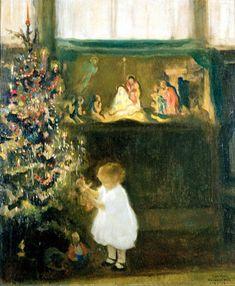Rosemary's Christmas -  Francis Luis Mora (1874 –1940, Uruguayan-born American)