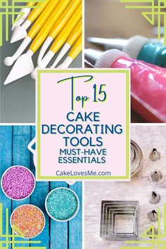 Whether you're a hobby baker or a budding cake or cupcake artist this list is for you! Do you struggle with mediocre kitchen supplies and wish your baking and cake decorating was easier? Look no further than my Top 15 Cake Decorating Tools. #cake #cakedecorator #cakedesigner #cakecakecake #cupcake #cupcakes #caketools #cakedecorating #cakedecoratingtools #bake #baking #bakingsupplies #bakingtools #bakingessentials #cakeart #cakeartist #cupcakedesign #cupcakedesigner
