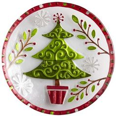 Serve up your one-of-a-kind style this holiday with our salad plate edged with a rich, red border.