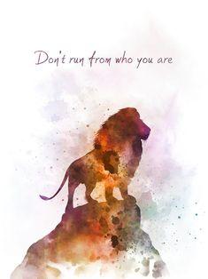 Aslan inspired quote art print illustration, narnia, lion, n