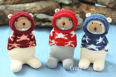 Also links to sloths, lambs, elephants and other sock critters.