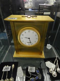 Here is a gilt Thwaites and Reed Clock with key which will be sold tomorrow at the Brighton Racecourse viewing today 9-6pm