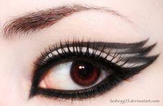 Black Swan eye makeup