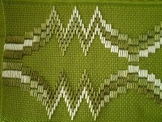 Ribbon Embroidery Flowers by Hand - Embroidery Patterns Broderie Bargello, Bargello Needlepoint, Bargello Quilts, Needlepoint Stitches, Swedish Embroidery, Hardanger Embroidery, Silk Ribbon Embroidery, Cross Stitch Embroidery, Christmas Embroidery Patterns