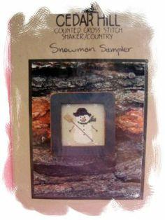 Cedar Hill snowman sampler XS pattern ~NEW     Price: $2.99