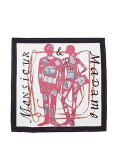 Hermès Women's Monsieur & Madame Scarf, White/Multi, http://www.myhabit.com/redirect?url=http%3A%2F%2Fwww.myhabit.com%2F%3F%23page%3Dd%26dept%3Ddesigner%26sale%3DA8P11AWA2FLR2%26asin%3DB00AF87B1I%26cAsin%3DB00AF87B1I