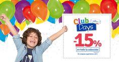 Celebra con nosotros #imgClubDays :) -15% en TODA la colección para socios Imaginarium. ¡Descubre todos nuestros productos! :D