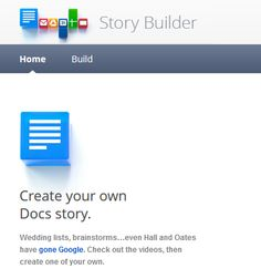 Google Story Builder is a new webapp that allows you to create video presentations with a Google Docs feel. This of this as Animoto meets Google Docs. Free