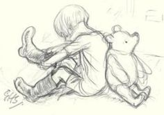 Pooh and Christopher Robin EH Shepard