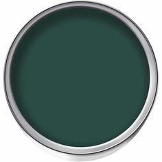Wilko Statement Dark Ivy Matt Emulsion Paint 1.25L | Wilko Wilko Paint, Bold Colors, Colours, Statement Wall, Paint Samples, Wall Paint Colors, Paint Drying, Wow Products, Home Decor Kitchen