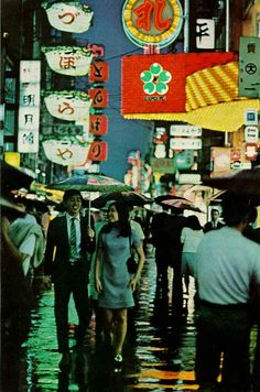 Osaka during the 1970′s World's Fair (probably the Dotonbori aera)
