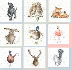 Pack of 20 Lunch Table Paper Napkins Decoupage Wrendale Animals - Your Choose