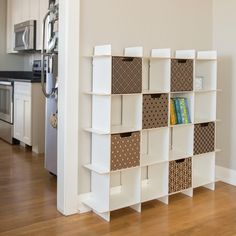 Modern 16 Cube Storage Bookcase