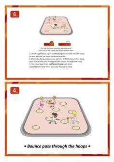 basketball pass bounce practice skill games pe school sport education teach lesson