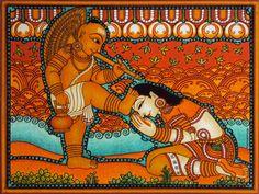 Ganesha Painting, Buddha Painting, Buddha Art, Painting Canvas, Art Forms Of India, India Art, Kerala Mural Painting, Indian Art Paintings, Madhubani Art