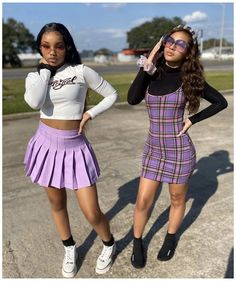 Swag Outfits For Girls, Teenage Girl Outfits, Girls Summer Outfits, Cute Swag Outfits, Girls Fashion Clothes, Teen Fashion Outfits, Girl Fashion, Bestfriend Matching Outfits, Matching Outfits Best Friend