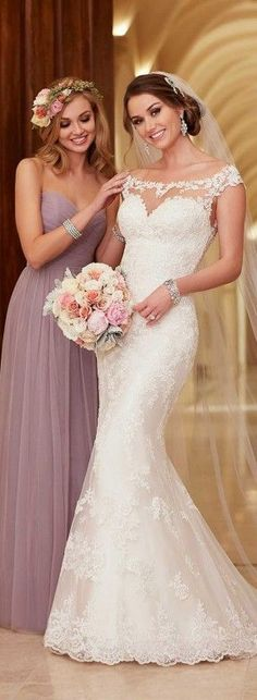 Stella York wedding dresses stocked by Fross Wedding Collections. View our bridal boutique's range of Stella York bridal gowns. 2016 Wedding Dresses, Wedding Attire, Bridal Dresses, Wedding Gowns, Lace Wedding, Backless Wedding, Dresses 2016, Trendy Wedding, 2017 Wedding