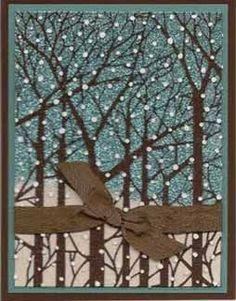 dreamweaver stencil bare trees lj849 karen w paste embossed with