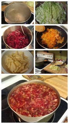 Delicious traditional Russian borscht, the recipe given to me by a wonderful Russian cook!