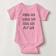 Fly Me Baby Bodysuit (Pink) - baby gifts giftidea diy unique cute