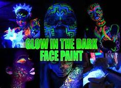 Glow in the Dark Face Paint (Individual By Color)