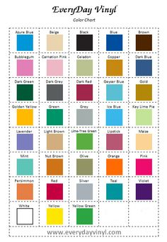 10 pcs adhesive vinyl for your cricut expression crafts scrapbooking etc - Cricut Vinyl Colors
