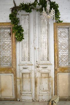 Painted Cottage Chic Shabby Chic Prairie Antique Doors