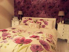 Purple shabby chic bedroom