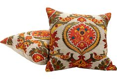Suzani-Style Embroidered Pillow    $459.00