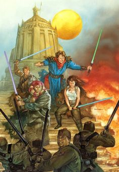 While the panels of the Tales of the Jedi-comics is a mixed experience, the cover artwork is consistently impressive. Star Wars Comics, Star Wars Rpg, Star Wars Jedi, Dc Comics, Darth Revan, Star Wars Books, Art Folder, The Old Republic, Jedi Knight