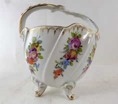 Antique Dresden Potschappel Porcelain Basket Bowl Dresden Sprays FOR SALE • £49.99 • See Photos! Money Back Guarantee. italia2014 Store Auctiva's FREE Scrolling Gallery will enhance your listings. ANTIQUE DRESDEN POTSCHAPPEL PORCELAIN BASKET BOWL DRESDEN SPRAYS Save time & money with FREE Auctiva Image Hosting.Create listings that get 231845488535 Dresden China, Dresden Porcelain, China Painting, Selling On Ebay, Painted Porcelain, Hand Painted, Basket, Ceramics, Table