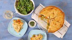 To-Die-For Chicken Pot Pie Chicken Menu, Baked Chicken Recipes, Turkey Recipes, How To Cook Chicken, Homemade Chicken Soup, Food Dishes, Main Dishes, Cooking Recipes, Pie Recipes