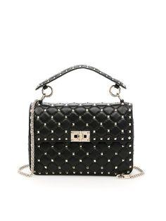 bac26a6ac05a VALENTINO Medium Spike Rockstud Bag.  valentino  bags  shoulder bags  hand  bags  lining