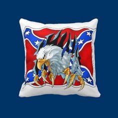 The Eagle Rebels Throw Pillow by fstasu51