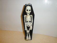 Vintage Halloween Gurley Candle ~ Skeleton Casket
