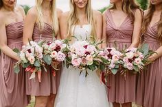 pink fall bouquets | Kati Mallory #wedding