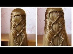 Hairstyle with braid…Beautiful hair easy to make long hair .Hairstyle for girl In this tuto hairstyle I show you how to realize a beautiful coiffure. Haircuts For Long Hair, Girl Hairstyles, Braided Hairstyles, Hear Style, Curly Prom Hair, Fancy Braids, Going Blonde, Hair Transformation, Hair Videos