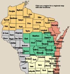 Wisconsin Birding and Nature Trail Regional Map