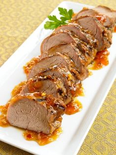 Spicy Honey Mustard Pork/Chicken- Combine equal parts Dijon and honey, plus a chopped chipotle pepper. Spread half over the surface of a pork tenderloin or chicken breast. Grill until firm, but still yielding, and brush with the other half of the sauce before serving.