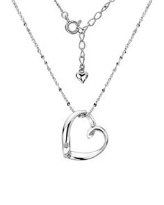 Lotty silver and diamond heart pendant, £55