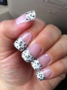 White and pink cheetah nails | See more nail designs at http://www.nailsss.com/nail-styles-2014/2/