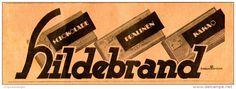 Original-Werbung/ Anzeige 1925 - HILDEBRAND SCHOKOLADE / PRALINEN / KAKAO - ca. 200 x 65 mm