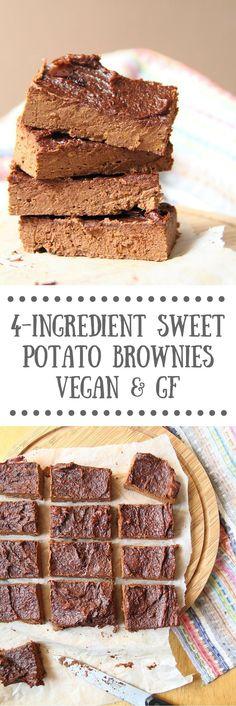 4-Ingredient Vegan Sweet Potato Brownies - Vegan & Gluten-free Healthy Recipe